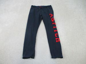Abercrombie & Fitch Pants Adult Medium Blue Red Sweat Pants Preppy Mens B25