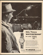 1956 vintage AD TIMEX Waterproof Watches , Your Star on a rainy night 60517