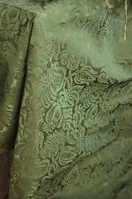 Italian 17th century silk damask textile 1600's green canopy top 62X74 LARGE