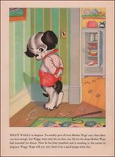 BAD PUPPY DOG Made to Stand in the Corner, by Ruth Newton, vintage print 1934
