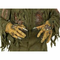 Jason Voorhees Hands Gloves Latex Mens Deluxe Friday The 13th Costume Accessory