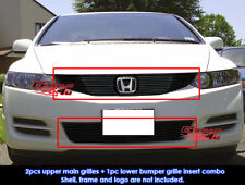 Fits Honda Civic Coupe Black Billet Grill Combo 2009-2011