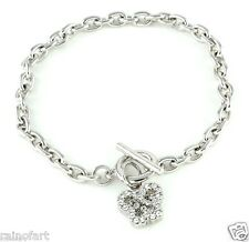 Butterfly Bracelet Charm Made With Swarovski Crystal Love Clear Gift New Jewelry