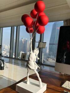Flying Balloons Girl Art 57cm Banksy Sculpture Resin Luxury Decor free shipping