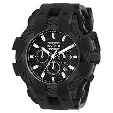 Invicta 23864 Bolt Men's All Black Silicone Strap 48mm Watch