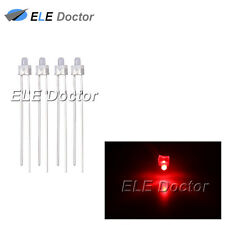 100pcs 2mm Diffused White-Red Light DIP Round Top LED Diodes 16000Mcd