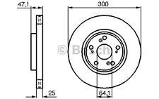 BOSCH Juego de 2 discos freno Antes 300mm ventilado HONDA ACCORD 0 986 479 227
