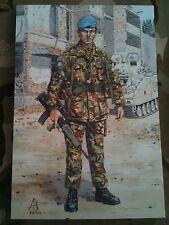 Military Postcard 2nd Royal Anglian Regiment Bosnia 1994 by Alix Baker