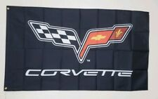 Corvette C6 Racing Banner 3x5 Ft Flag Garage Wall Decor Sting Ray Chevy Vette