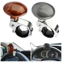 1XBlack Or Hickory Car Auto Steering Wheel Suicide Spinner Handle Knob Booster