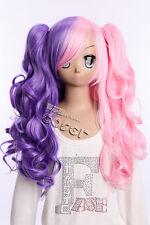 W-15 Kawaii Gothic Lolita Harajuku Locken Curl 65cm lang Cosplay Perücke Wig