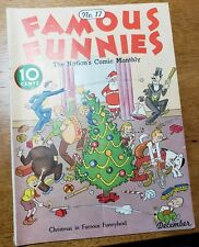 Famous Funnies #17 (Eastern Color) beautiful white pages.Buck Rogers  Christmas