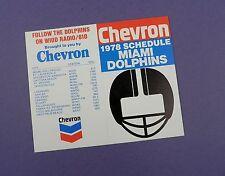 Miami Dolphins - 1978-sin usar stock artículo!!! Programación