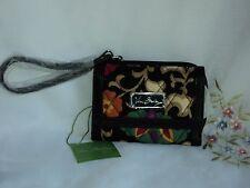 Vera Bradley Wristlet in Suzani Cotton Zip Around Multi-color Free Shipping $61