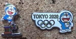 2 pin Olympic Games Tokyo Japan 2020 DORAEMON PyeongChang 2018 Media
