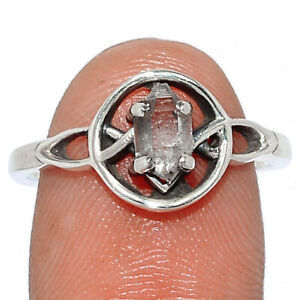 Herkimer Diamond - USA 925 Sterling Silver Ring Jewelry s.7.5 BR106405 262O