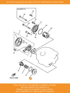YAMAHA Plug, Drain, 5H0-15351-00 OEM SR125 TW125 XT125 TW200 AG200 AG200E XT225