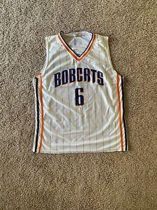 Vintage Charlotte Bobcats NBA Jersey XL#6, NoName,White w Pinstripe