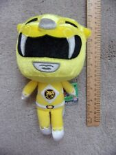 """YELLOW Mighty Morphin Power Ranger Collectible Plush Soft toy 8"""" MMPR New Funko"""