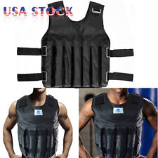 Adjustable Weighted Vest 40LBS Fitness Weight Training Workout Boxing Jacket New