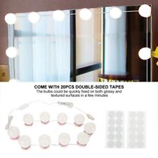 LED Mirror With Lights Dressing Vanity Makeup Desk Table Bright LED Large Kit