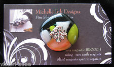 Silver Glass Tree of Life Needle Minder Magnet Michelle Ink Designs