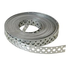 Builders Galvanised Multi Purpose Flexible Fixing Band 20mm wide 10m Roll