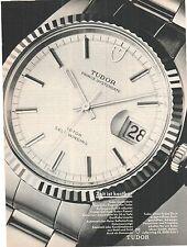 TUDOR - Oysterdate - Chronograph - Reklame - vintage advert -  alte Annonce -