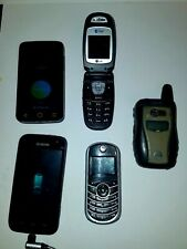 Lot 5 cell phones Tracfone Tfc139B Alltel Lg Alcatel A521L Nextel i580 Kyocera