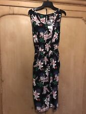 Yours Clothing Black Floral Dress UK 16, NEW Summer Beach