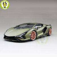 1/18 Lamborghini Sian FKP 37 Bburago Supercar Diecast Model Car Toys Boy Gifts