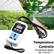 Electronic Thermostat Digital Breeding Temperature Controller Socket US Plug