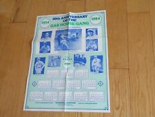 BASEBALL ST LOUIS CARDINALS GAS HOUSE GANG POSTER 1984 LEO DUROCHER