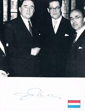 "Netherlands PM Jo Cals 1914-71 autograph signed 7""x9"" album page w.photo"
