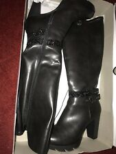 Black Boots  knee high Size 6
