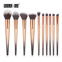 10Pcs Makeup Brushes Set Foundation Powder Eyeshadow Cosmetic Make Up Tool Kits