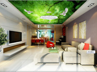 3D Green Light  Forest 89 Wall Paper Wall Print Decal Wall Deco AJ WALLPAPER