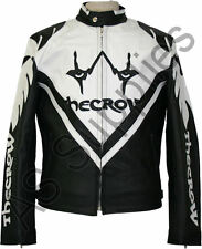 """THE CROW"" Gothic Cult Classic Leather Biker Motorcycle Jacket - All sizes!"