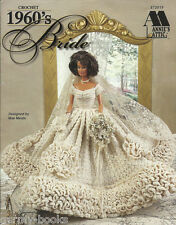 1960's Bride Crochet Fashion Doll Wedding Dress Clothing Patterns Mae Meats NEW
