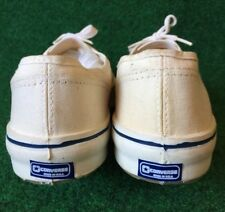 Vtg Converse All Stars white canvas Sneaker Tennis Shoes blue label made in USA