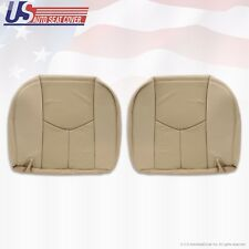 2003 2004 Cadillac Escalade 2nd Row Driver & Passenger Bottom Leather Cover Tan