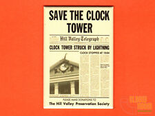 "Back to the Future Save the Clock Tower flyer 2x3"" fridge/locker magnet BTTF"
