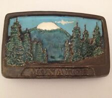 Vintage Belt Buckle Colorado Chad 1981 Monarch Mountain Clearing CO