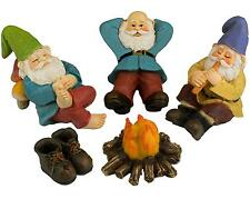 Funny Mini Garden Gnomes Set Outdoor Home Lawn Figurines Resin Statues 2,75 Inch