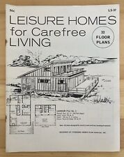 Vintage Leisure Homes for Carefree Living Floor Plans Mid Century Architecture