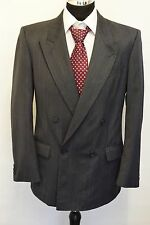 MS620 Vtg MARKS AND SPENCER  MEN'S GREY WOOL BLEND 2PC SUIT CHEST 40M   W34  L31