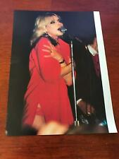 1980 Vintage Magazine Color Photo Clipping Sexy Blondie Debbie Harry Deborah