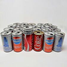 Pepsi 1st NASA Space Shuttle Landing and 1984 Worlds Fair Coke Empty Can Lot