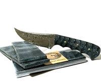 "Blue Jean Denim Micarta Knife Scales Pair Pistol Grip 5 1/2""x 2"" x 1/4"" Free S&H"