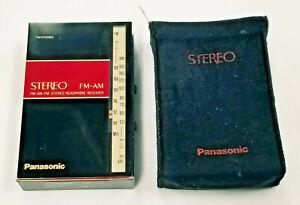 Vintage Panasonic Ultra Compact FM-AM-FM Stereo Headphone Radio Model No. RF-8